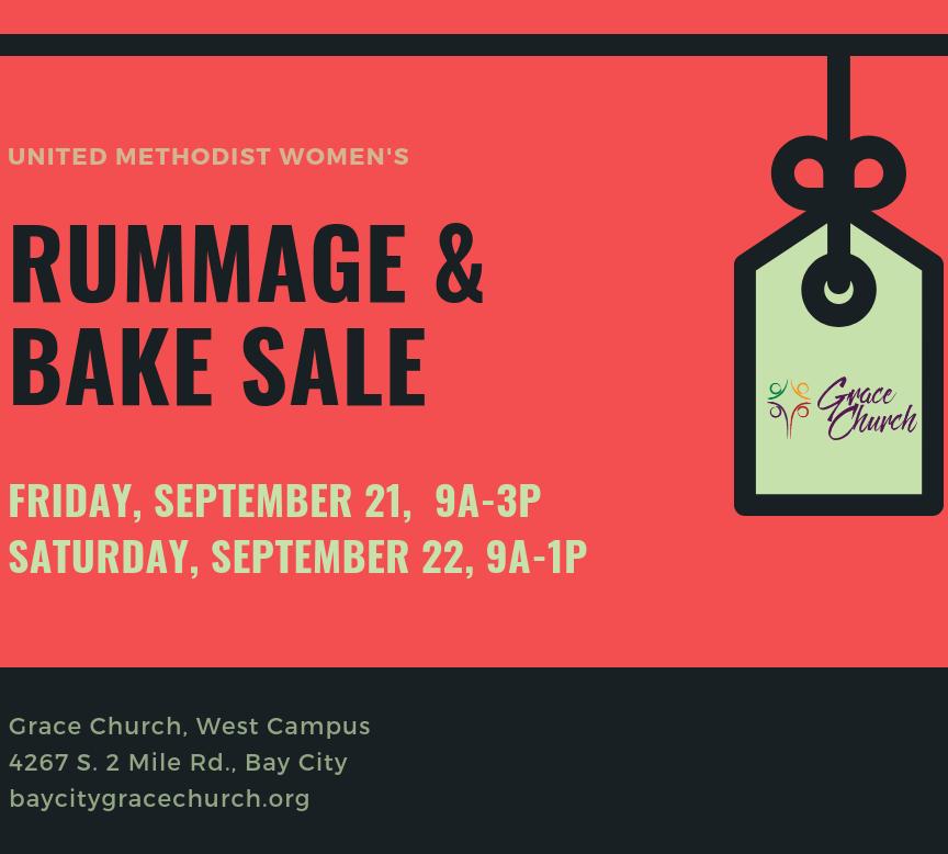 Rummage and Bake Sale - Bay City Grace Church
